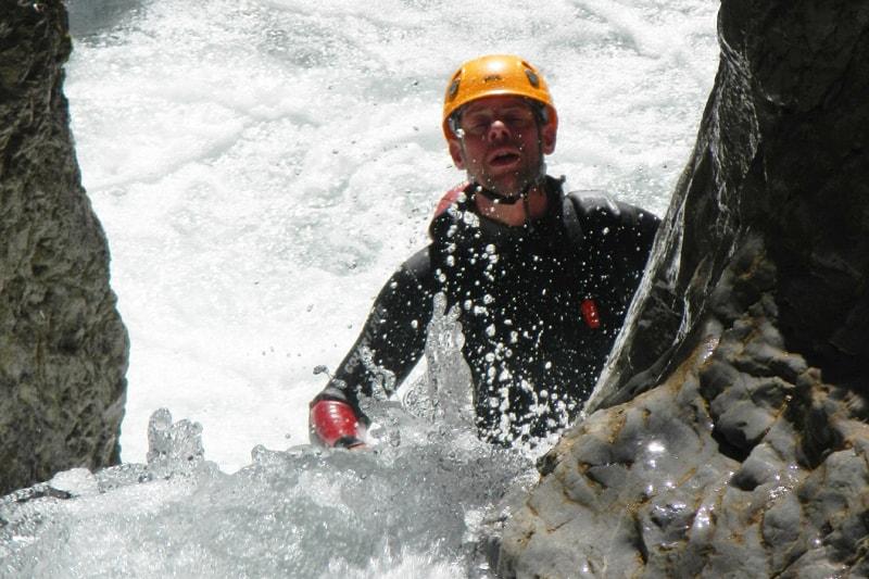 Action im Canyon