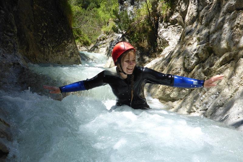 Canyoning Tirol für Einsteiger