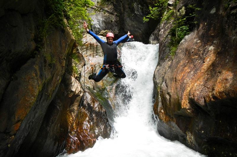 sportliches Rafting und Canyoning in Tirol