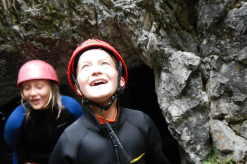 Canyoning mit Kindern in Imst