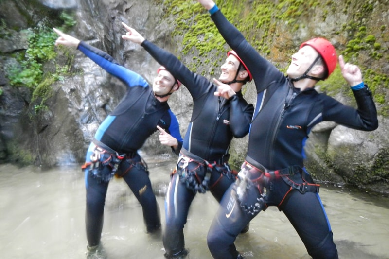 JGA Canyoning mit Stripperin