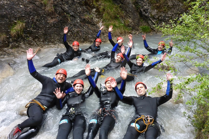 Canyoning Teamevent