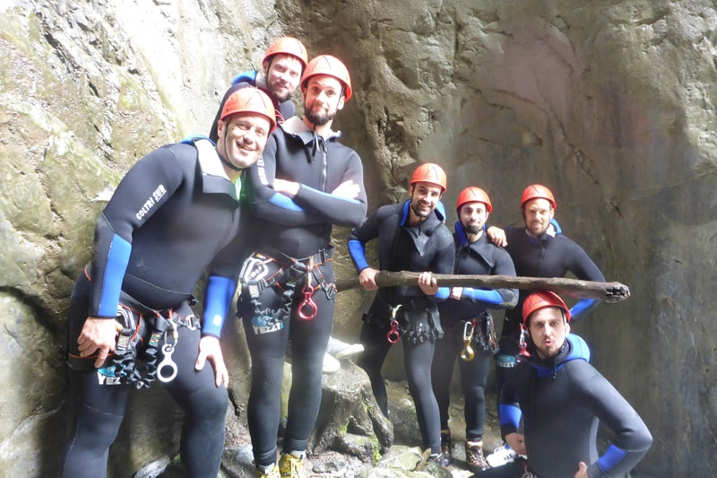 Canyoning grünes Level