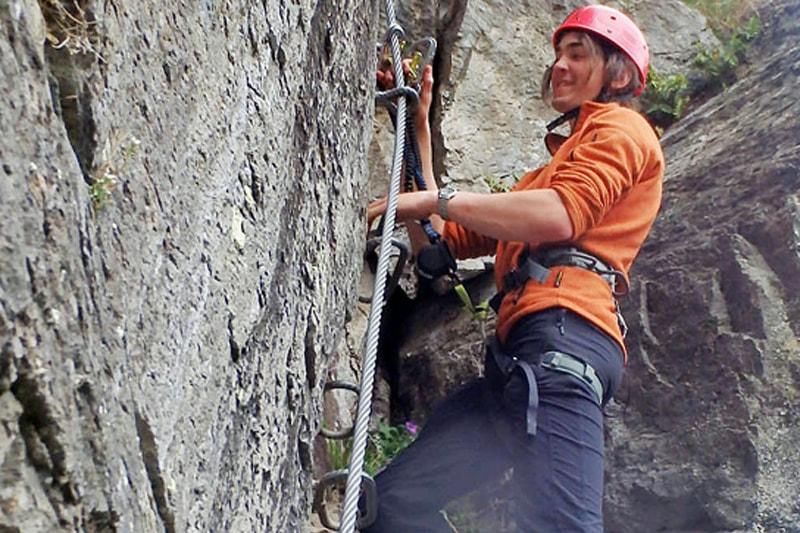 Sportlicher Klettersteig in Tirol