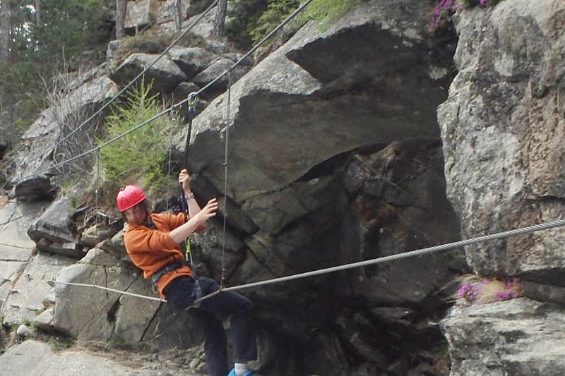 Klettersteig Action