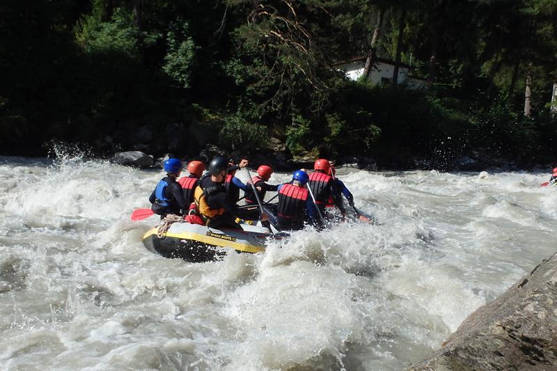 Wildwasser Rafting Sanna