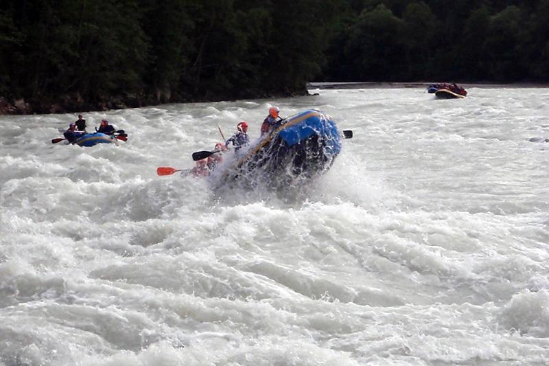 Extremes Rafting Wochenende in Österreich