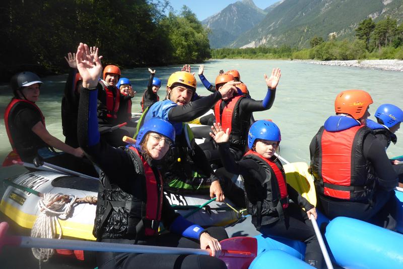 Rafting Wochenede für Familien mit Kindern