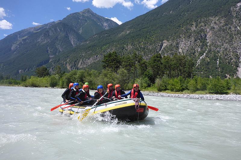 Entspanntes Rafting