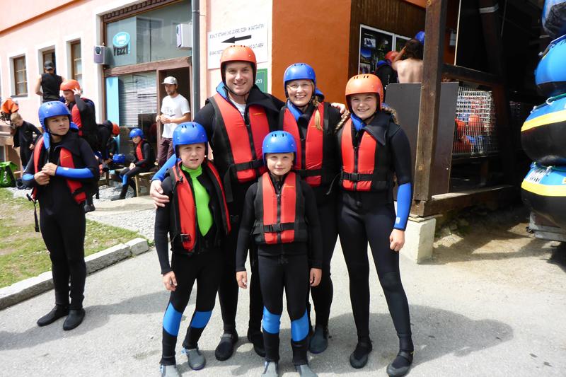 Rafting und Canyoning für Familien mit Kindern