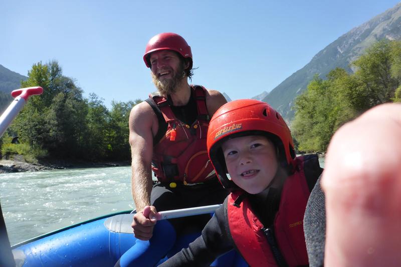 Raftingtour für Familien