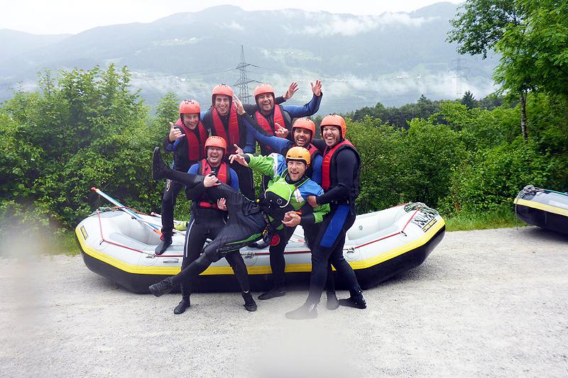 Rafting und Canyoning Wochenende Tirol